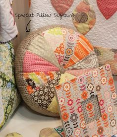 Must. make. this. pillow.   (and getting my hands on this fabric would be a treat as well).