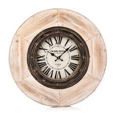 Hodiny kov/dřevo, 60 cm