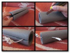 Pipe insulation as cable organizer.