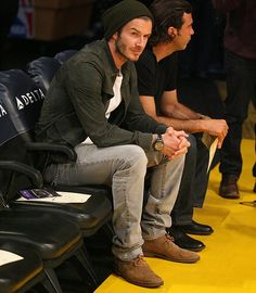 Oh David Beckham. No one should be able to make a hat like that look good. But you do. You do...
