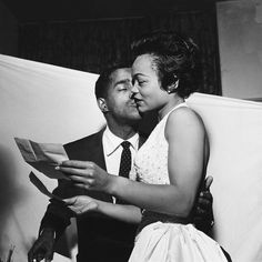 Eartha Kitt and Sammy Davis Jr. (1954)