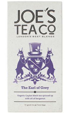 Joe's ekologiska Earl-grey-te passar till afternoon tea eller att blanda drinken Gin & Tea? #ekologiskt #te #joeastea