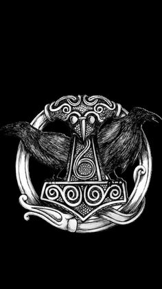 iphone 11 wallpaper - Everything About Women's Norse Tattoo, Celtic Tattoos, Viking Tattoos, Raven Tattoo, Viking Art, Viking Symbols, Viking Warrior, Norse Runes, Viking Runes