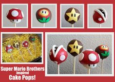 Super Mario Cake Pops. $35.95, via Etsy.