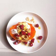 papaya, berries, yogurt, granola and honey Claudia Bravo MacPherson