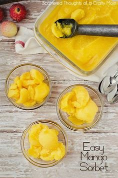 Mango Sorbet for Ebony, Anthony and Quentin.