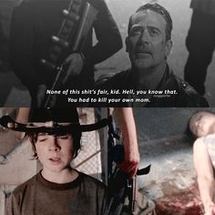 Damn I wish we would've got to see Carl and Negans relationship grow after war