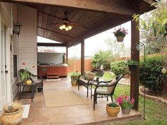 covered patio with hot tub - Google Search