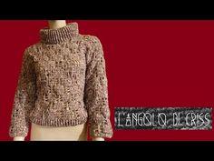 Maglione donna all'uncinetto - crocheted sweater - suéter en crochet - YouTube