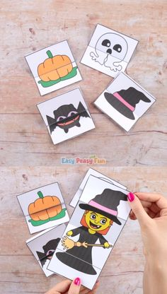 Surprise Halloween Cards Craft - Kati P. - Surprise Halloween Cards Craft Have your kids experience some magic with our Surprise Halloween Cards Craft! These surprise cards are pretty special as one object turns into another – so fun to explore. Halloween Toys, Halloween Crafts For Kids, Halloween Cards, Halloween 2020, Diy Crafts For Kids, Happy Halloween, Easy Crafts, Halloween Decorations, Adornos Halloween
