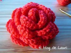 el blog de Lauri: Rosa en español Tutorial ✿Teresa Restegui http://www.pinterest.com/teretegui/✿