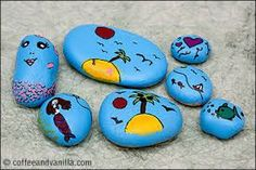 Image result for painting pebbles