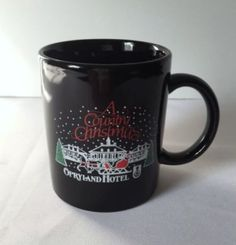 A Country Christmas Opryland Hotel Mug Sleigh Black Red Green White Coffee Cup