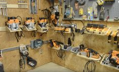 How to Build a French Cleat System for Power Tools Garage Tool Organization, Diy Garage Storage, Shop Organization, Triton Tools, Workshop Storage, Garage Workshop, Workshop Ideas, French Cleat System, Power Tool Storage
