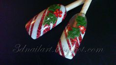3D Nail Art. GREAT and BEAUTIFUL nail art design for CHRISTMAS time!!!!