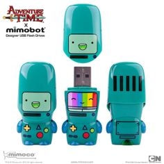 Cartoon Network x Mimoco BMO Adventure Time Designer Mimobot USB Flashdrive Usb Drive, Usb Flash Drive, Adventure Time, Pendleton Ward, New Adventures, Cool Gadgets, Nerdy, Cool Things To Buy, Action Figures