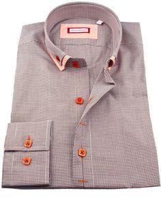 Men's double collar shirts - Pastore beige | UrUNIQUE.com