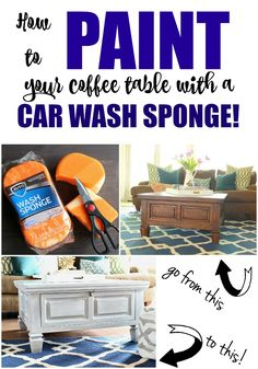 How to Paint Furniture with a Car Wash Sponge - Refunk My Junk кофе coffee Baby Furniture Sets, Furniture Fix, Chalk Paint Furniture, Funky Furniture, Repurposed Furniture, Furniture Projects, Furniture Makeover, Children Furniture, Furniture Cleaning