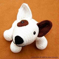 amigurumi dog bull terrier Jokie Joke, PDF crochet pattern
