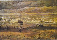 Strand von Scheveningen bei stürmischen Wetter, Vincent Van Gogh, 1882, p.741. This is probably the Van Gogh seashore that is recovered through Boris's tip. Stolen in 2002 and has not resurfaced.