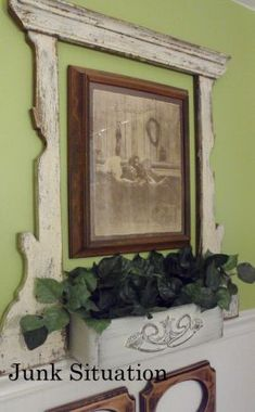 vanity mirror frame to jazz up wall art by simply hanging it over or under the grouping
