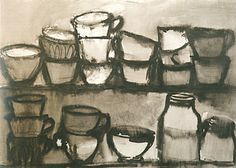 Schendel, Mira ~ Untitled 1964 ink and wash on paper Jasper Johns, Etchings, Land Art, Artist At Work, Still Life, Pop Art, Paintings, Ink, Sculpture