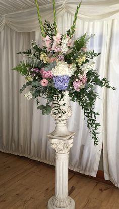 Posy Barn pedestal arrangement