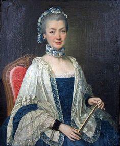 A Woman, ca. 1764 (Joachim Martin Falbe) (1709-1782) Schloss Friedrichsfelde, Berlin