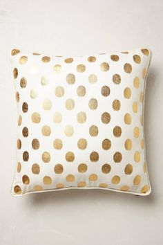 Perfect Gold-Dot pillow from Anthropologie