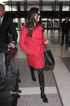 Nina Dobrev Photos Photos - Nina Dobrev is spotted departing from LAX on January 9, 2017. The 'Vampire Diaries' actress was looking stylish in red and black. *NO FRANCE, NO GERMANY, NO LATIN AMERICA, NO SPAIN, NO PORTUGAL* - Nina Dobrev Departs From LAX