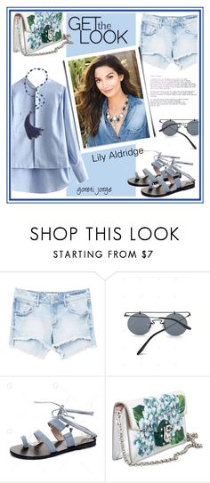 """Lily Aldridge - Get the look - Gamiss.com"" by goreti ❤ liked on Polyvore featuring MANGO and Dolce&Gabbana"