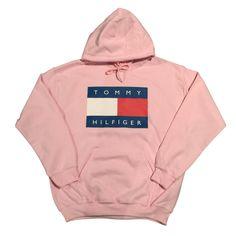 Pink Tommy Hilfiger Logo Hoodie Sweatshirt Vintage 90s Fashion Streetwear by COOL2THEIDEA on Etsy https://www.etsy.com/listing/287526171/pink-tommy-hilfiger-logo-hoodie