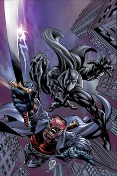 Blade & Black Panther by Mike Deodato Jr
