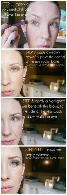 Makeup Tutorial for a Hooded Eye/deep set eye/droopy eye lid.