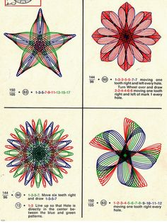 Scans from How to Draw with Spirograph; Some people talk about organizing a box of crayons. I was all about the Spirograph, baby. Original Spirograph, Spirograph Art, Geometry Art, Sacred Geometry, Zentangle, Drawing Machine, Arts And Crafts, Paper Crafts, Origami
