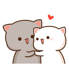 Cute Love Pictures, Cute Love Gif, Cute Images, Chibi Cat, Cute Chibi, Cartoon Gifs, Cute Cartoon Wallpapers, Cute Cat Illustration, Gato Gif