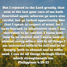 Philippines 4:10-13 KJV