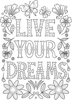 Coloring Pages With Words Printable