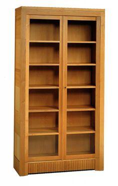 Libreria con ante in vetro, serie '900, di Morelato. #morelato #mobili #soggiorno #home #house #design #cosedicasa #casa #arredamento #arredamentocasa