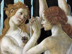 """eccellenze-italiane: """" Sandro Botticelli LA PRIMAVERA - dettaglio """""""