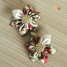 Buy directly from the world's most awesome indie brands. Or open a free online store. Angel Crafts, Kanzashi Flowers, Craft Shop, Layers Design, Mistletoe, Indie Brands, Hair Clips, Knot, Christmas Wreaths