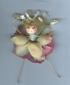 Blonde Flower Fairy with Pink and Light Green by patschafergallery