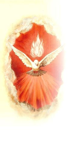 The Holy Spirit Jesus sent to us after His ascension. Pictures Of Jesus Christ, Religious Pictures, Christian Images, Christian Art, Catholic Art, Religious Art, Christian Paintings, Vintage Holy Cards, Jesus Art