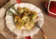 Italian Food Forever » Cheesy Brussels Sprouts Gratin