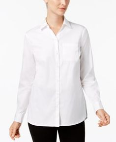 Charter Club Button-Front Shirt, Created for Macy's - White 18