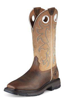 Ariat Men's Workhog Cowboy Boots - Steel Toe