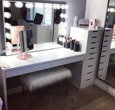 Makeup studio room ideas makeup studio decor ideas beauty room in home decorators collection blinds warranty . Ikea 9 Drawer, Drawer Unit, Drawer Dividers, Ikea Alex Drawers, My New Room, My Room, Room Ideas Bedroom, Bedroom Decor, Bedroom Modern