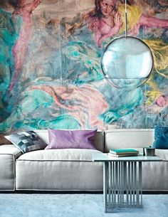 Bored of painting or wallpapering your rooms? Consider a wall mural! Whether it's hand painted or wallpapered onto your walls, creating a large feature will immediately transform the overall look of your home. Get inspired by our favourite wall murals on Rated People. Home Interior Design, Interior Architecture, Living Etc, Mood Colors, Funky Home Decor, Wall Murals, Art Walls, Wall Art, Living Room Inspiration