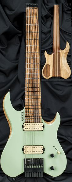 Model: #Carvin Guitars V8 #Vader 8-String Headless Guitar Serial Number:132333 Direct Price:$1,964.00 Sale Price:$1,714.00 SG - Seafoam Green CS - Satin Matte Finish AT - Swamp Ash Top ASH - Maple Neck/Swamp Ash Body RNC - Rear of Body Natural Clear (Must Have Top Wood) 5WM - 5-Piece Walnut Neck w/ 2 Maple Stripes ZWF - Zebrawood Fingerboard NIN - No Top Inlays - Side Dots Only http://www.carvinguitars.com/guitars-in-stock/132333