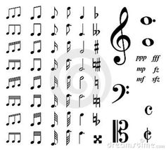 music notes -